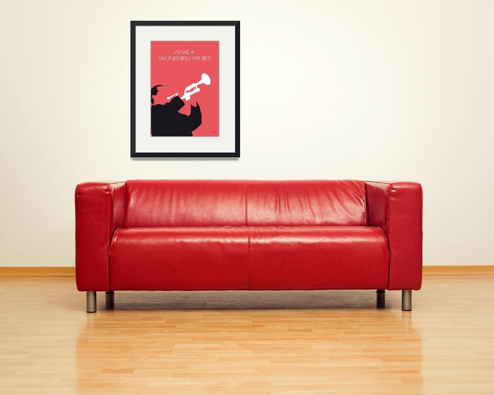 """No012 MY LOUIS ARMSTRONG Minimal Music poster&quot  by Chungkong"