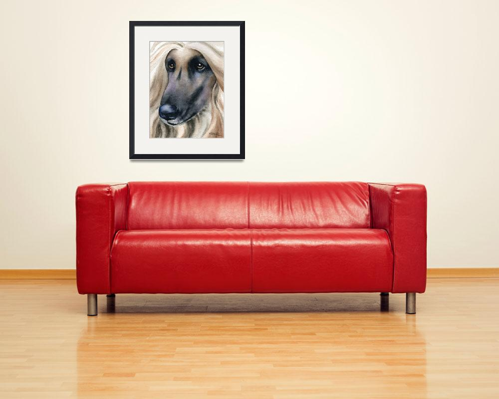 """""""Afghan Hound&quot  (2015) by k9artgallery"""