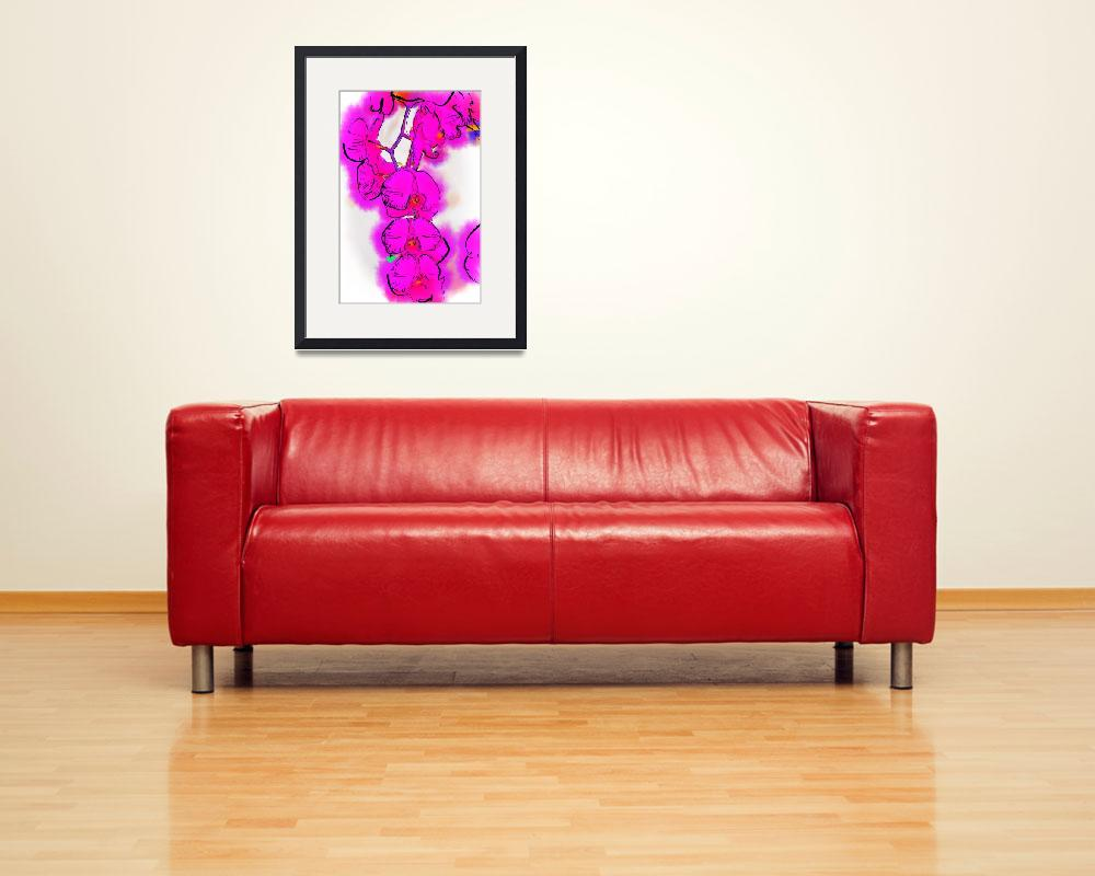"""""""Abstract Orchid 1&quot  (2013) by Kirtdtisdale"""