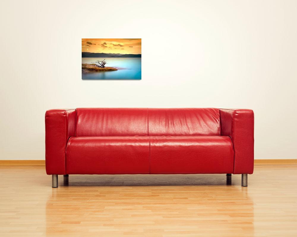 """Summer Solace - Lake Jocasse Sunset Landscape""  (2009) by DAPhoto"