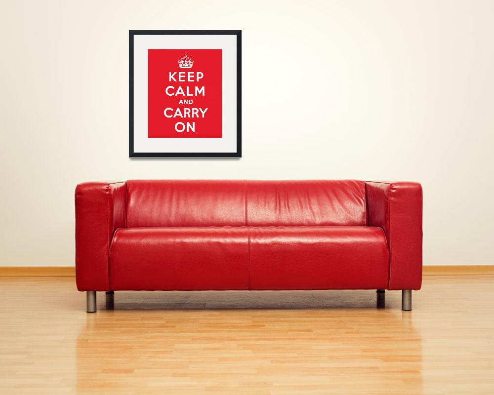 """""""Keep Calm and Carry On&quot  (1939) by fineartmasters"""