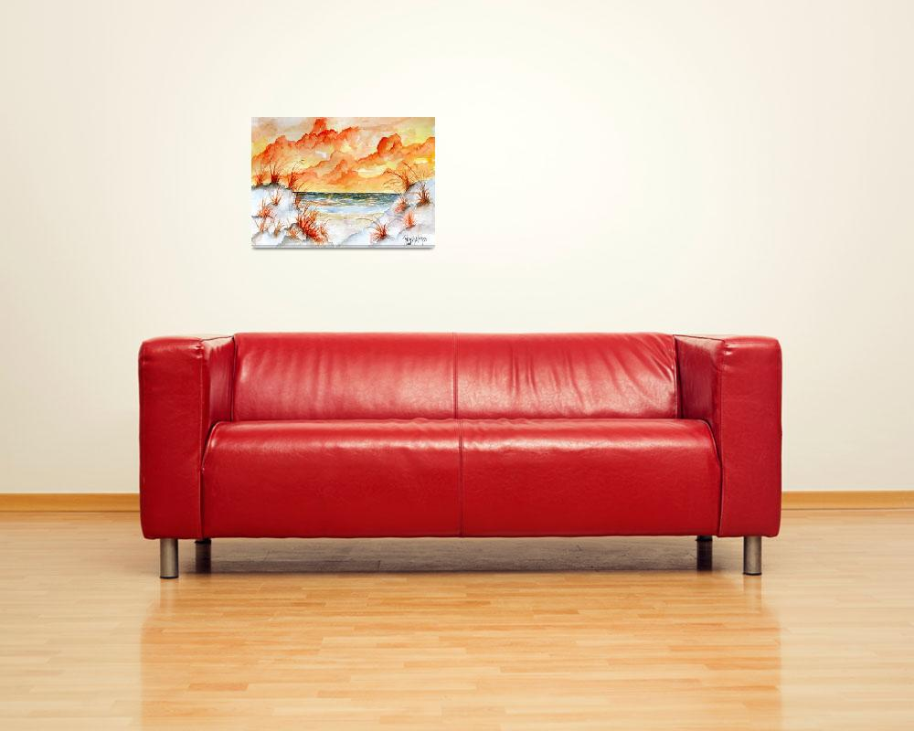 """watercolor beach painting art print""  (2010) by derekmccrea"