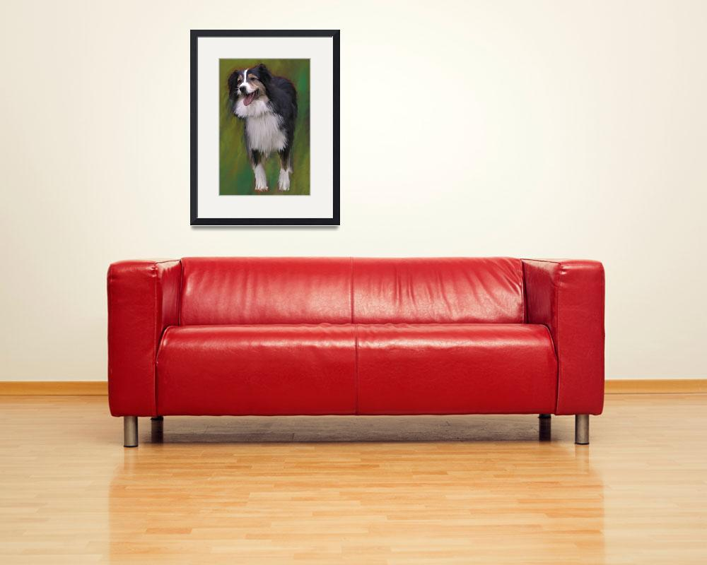 """""""Dog with green backdrop&quot  (2009) by kring"""