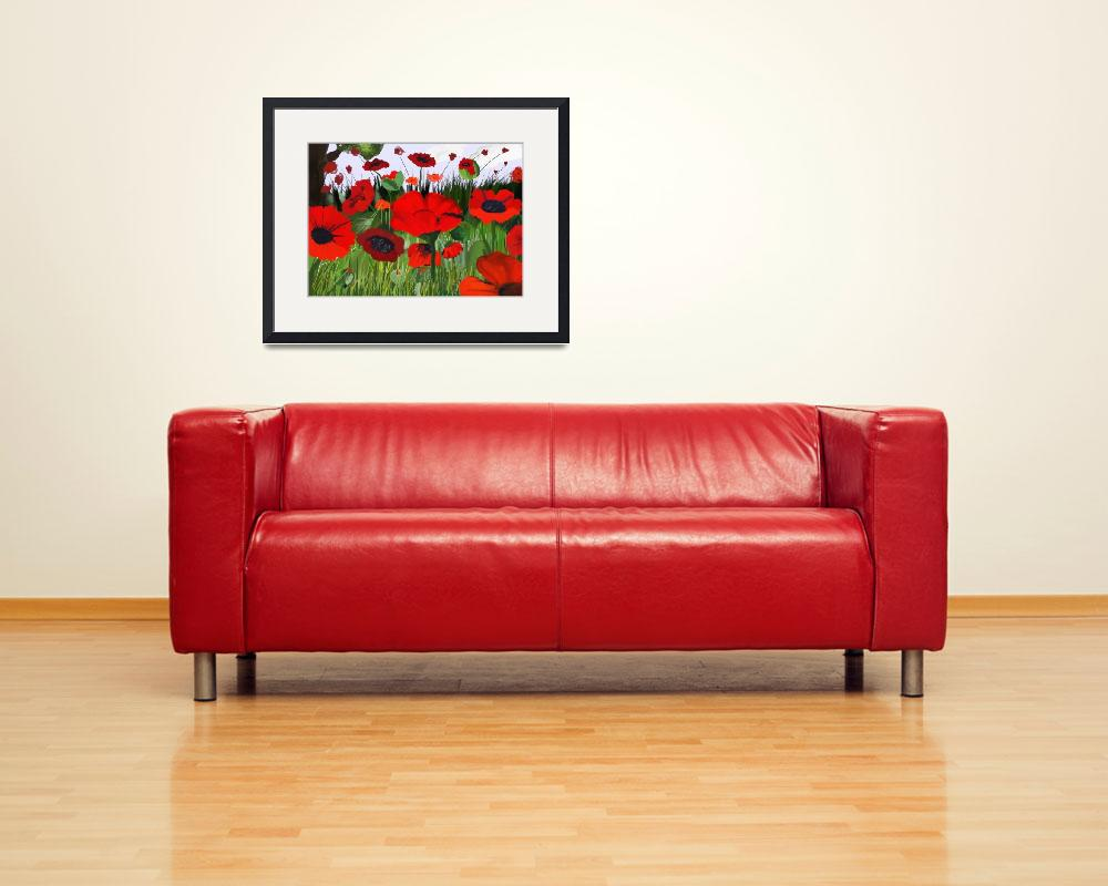 """""""Poppies Poppies""""  (2008) by scrapydapy"""