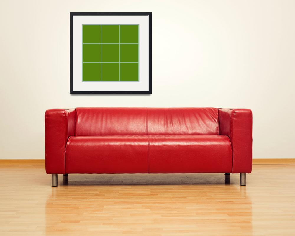 """Green Window 013 Canvas Contemporary Modern&quot  (2010) by Ricardos"