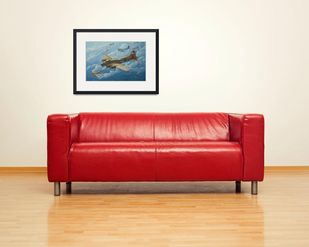 """""""B-17 Flying Fortress painting -"""