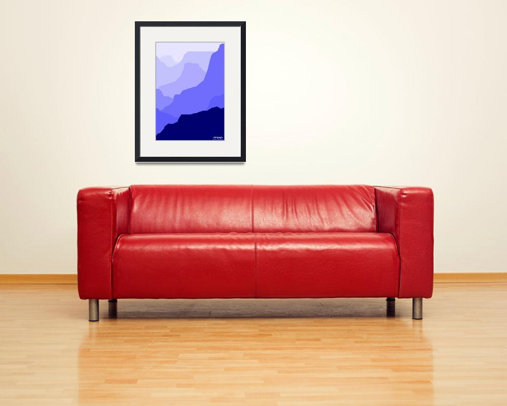 """""""Grand Canyon - blue - Art Gallery Selection&quot  by Lonvig"""
