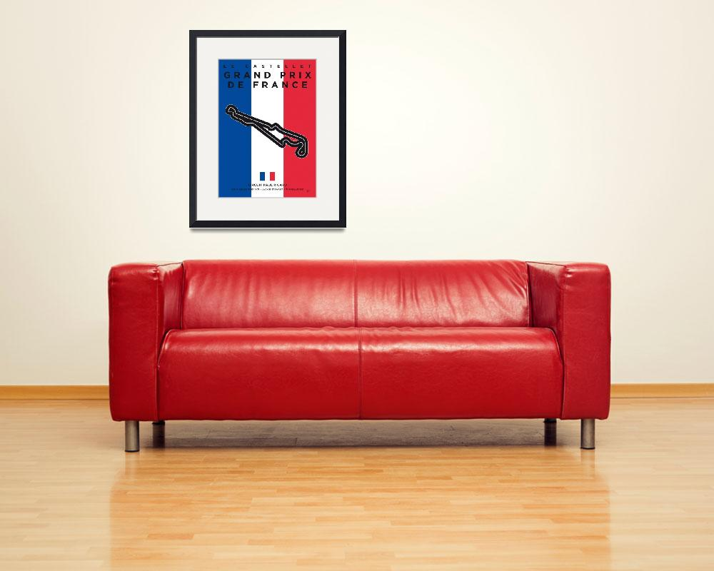 """My F1 France Race Track Minimal Poster&quot  by Chungkong"