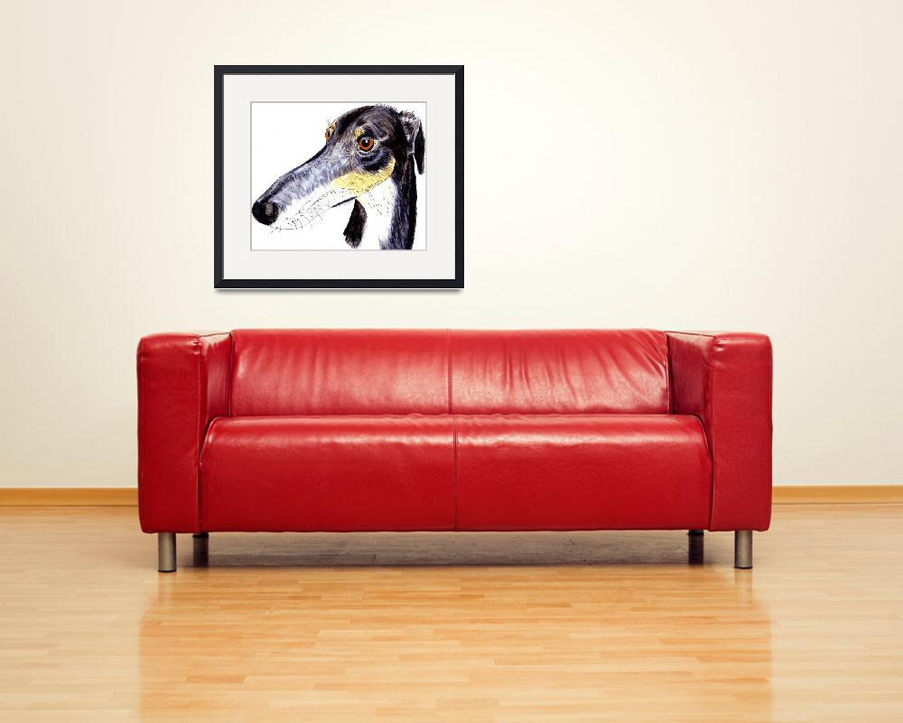 """""""Quirky greyhound lurcher&quot  (2014) by rayemond"""