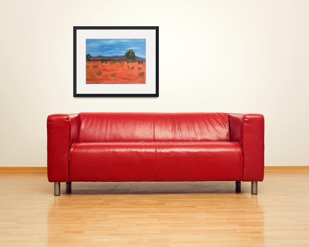 """""""red earth blue sky""""  (2014) by anneberrysmith"""
