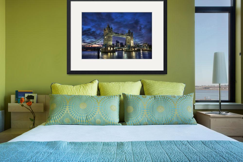 """""""Tower Bridge Blue Hour&quot  by thefella"""