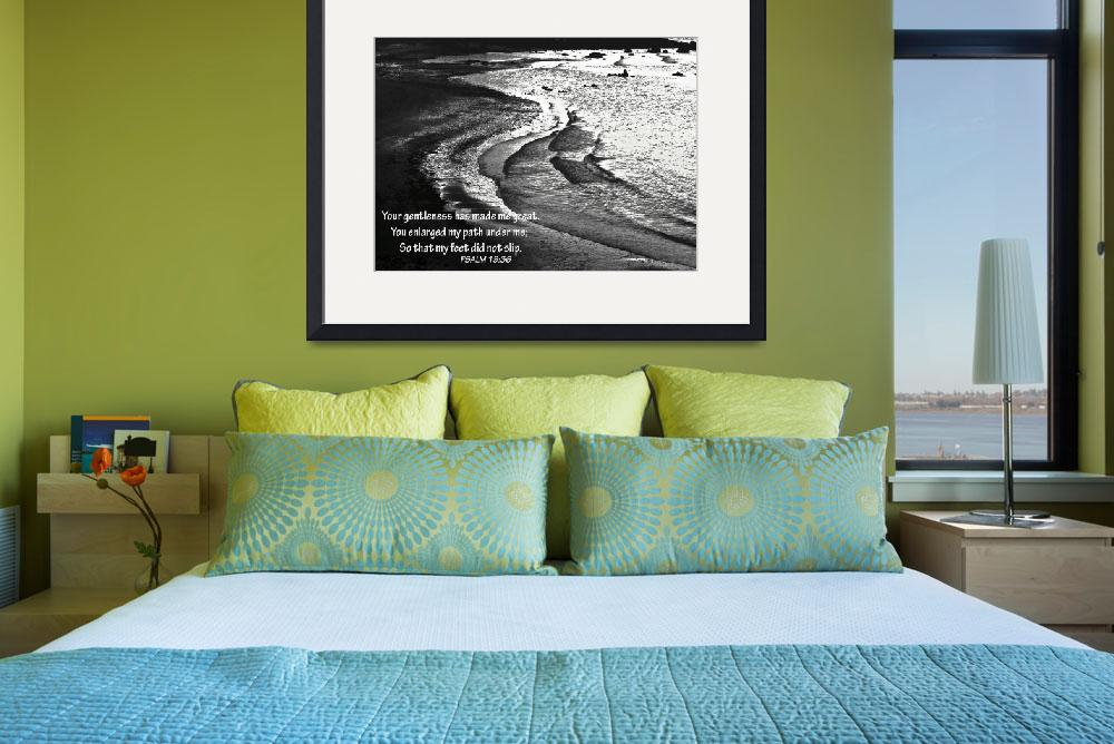 """Tranquil Tide Water with PSALM 19-36 Bible Verse&quot  (2009) by PhotographsByCarolFAustin"