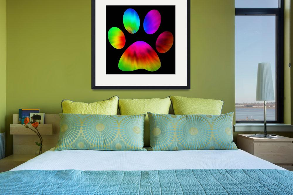 """""""Rainbow Paw Print&quot  (2015) by AliciaCounter"""