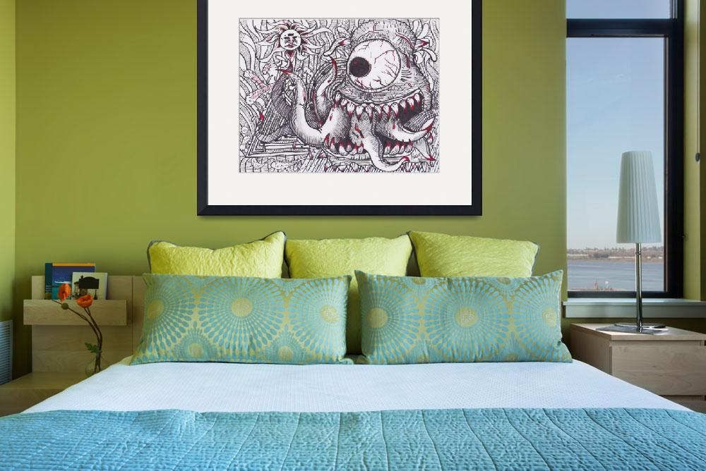 """""""Eyed Monster""""  (2013) by ACILLUSTRATIONS"""