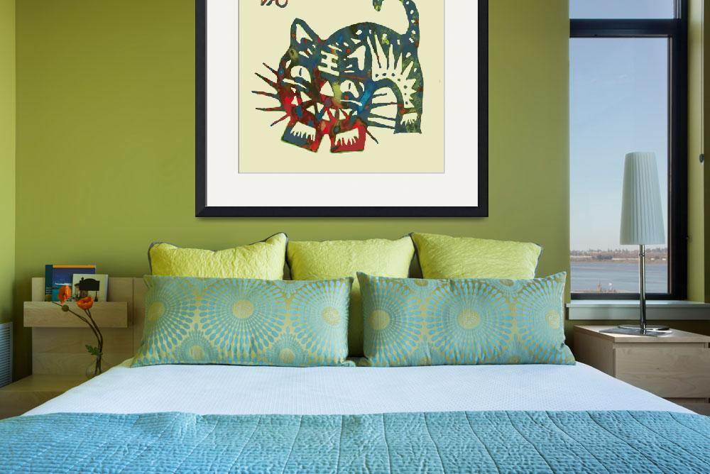 """""""The Chinese Lunar Year 12 Animal - Tiger  pop art&quot  (2013) by visualharbour"""