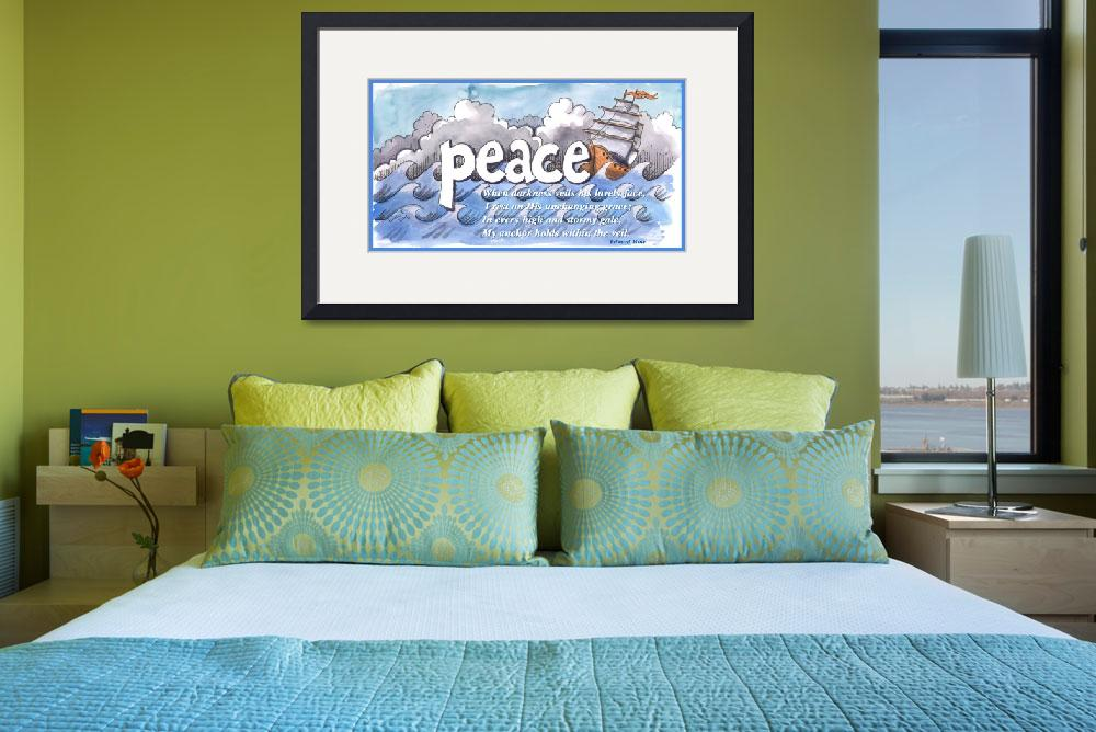 """""""Peace in Storm, typed text&quot  (2016) by createdcreating"""