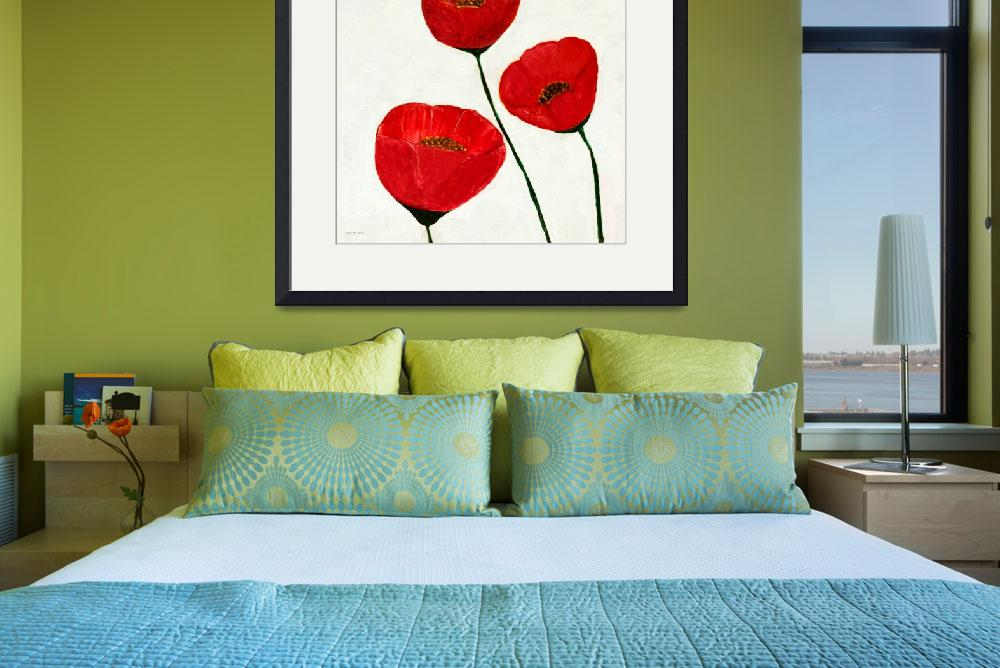 """Decorative Poppies Acrylic Painting C62017&quot  (2017) by MasArtStudio"