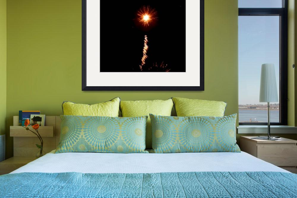 """""""Fireworks #22 """"A Star in the Night""""&quot  (2008) by rayjacque"""