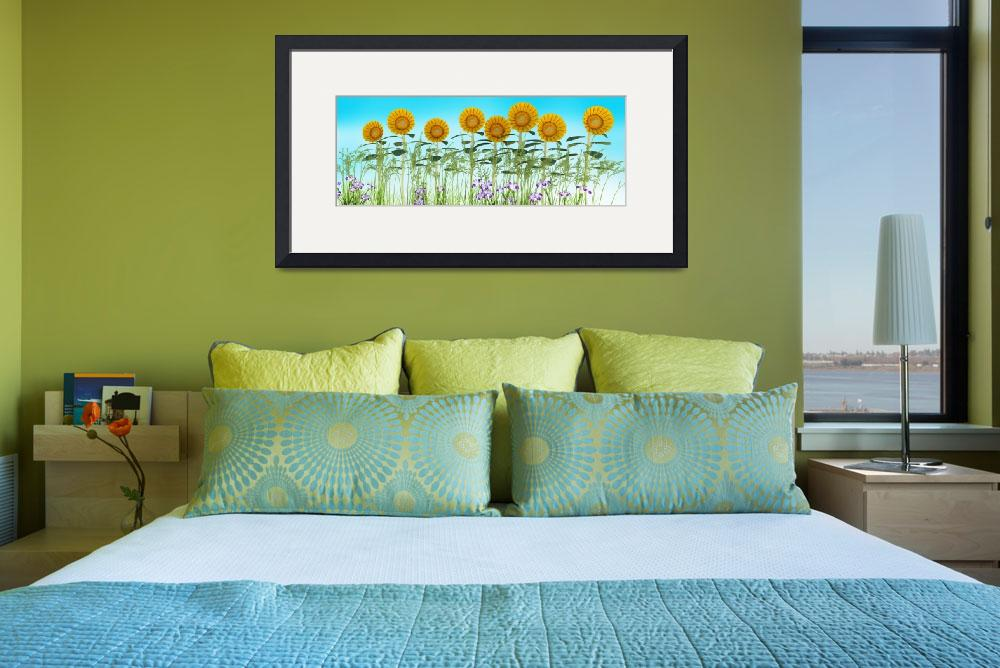"""""""Sunflowers in a Row&quot  (2013) by walbyent"""