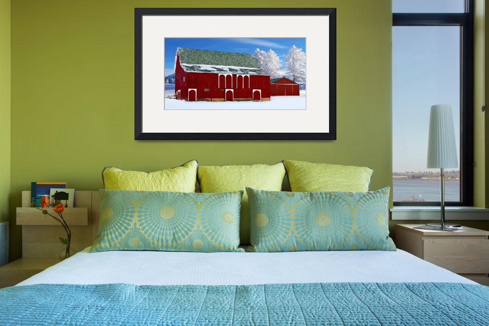 """""""Old Red Barn&quot  (2012) by patsphotos"""
