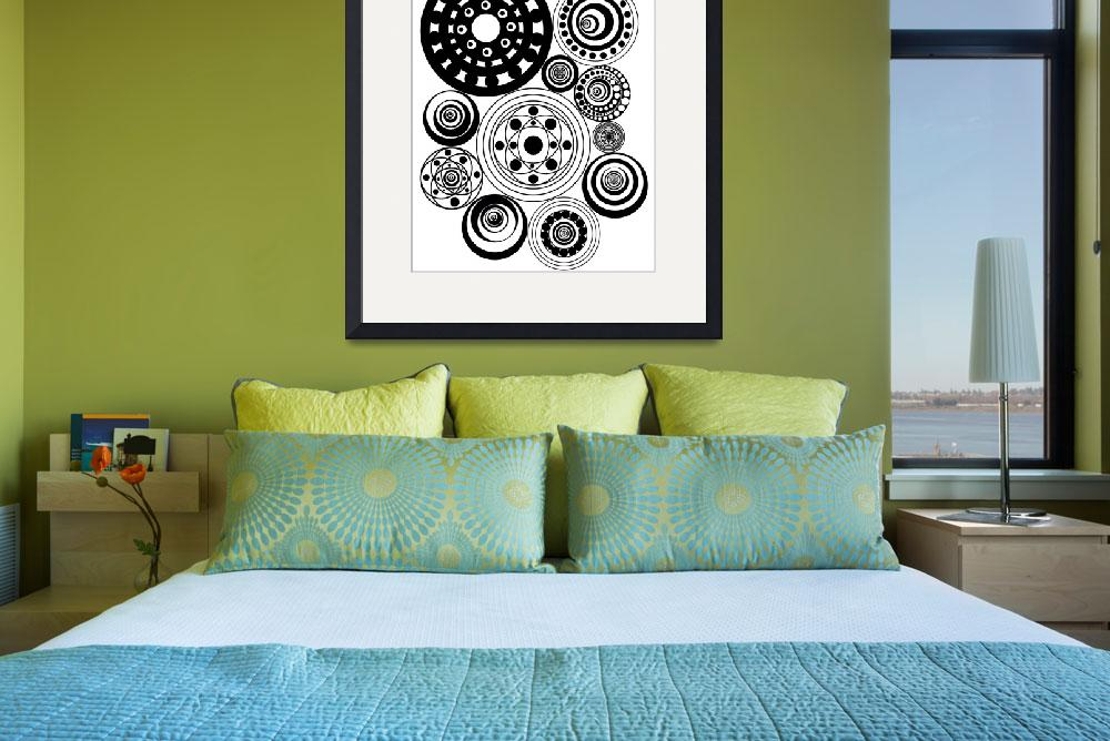 """""""Zentangle Circles Design&quot  (2015) by AliciaCounter"""