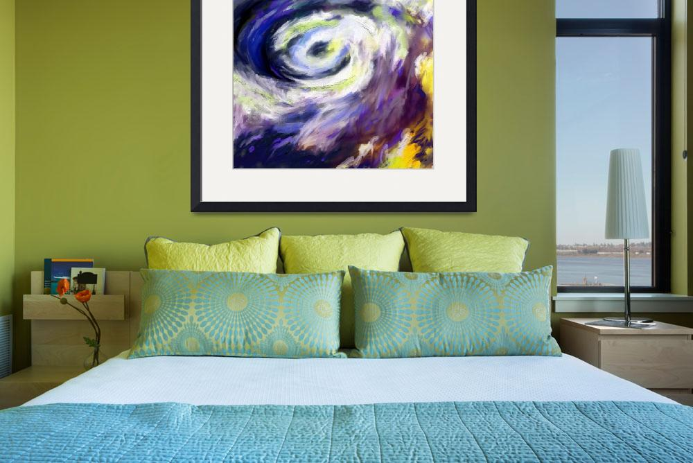 """""""Abstract Storm Hurricane Clouds&quot  (2015) by GinetteCallaway"""