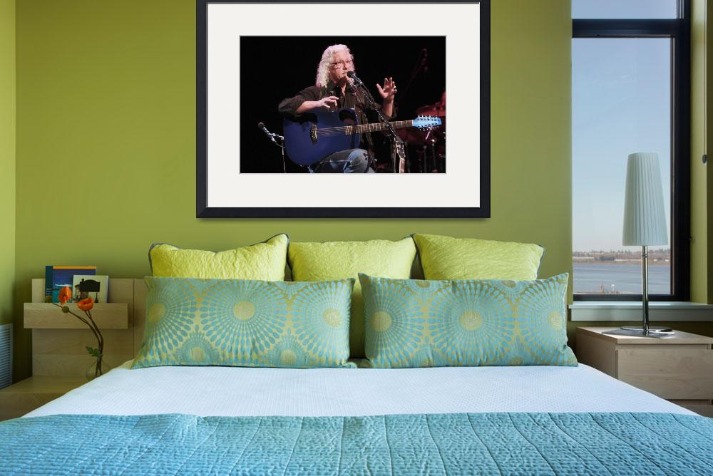 """Musician Arlo Guthrie&quot  by FrontRowPhotographs"