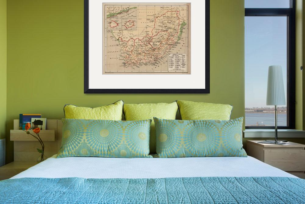"""""""Vintage Map of South Africa (1880)&quot  by Alleycatshirts"""