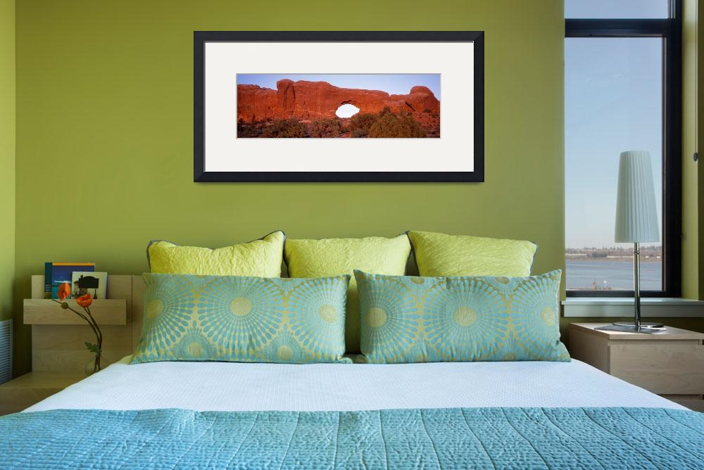 """""""Tuppet Arch Arches National Park Moab UT&quot  by Panoramic_Images"""