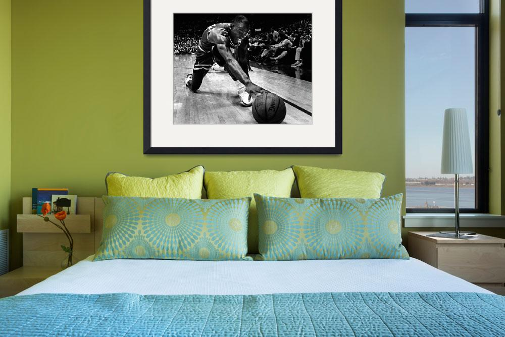 """Michael Jordan reaches for the ball&quot  by RetroImagesArchive"