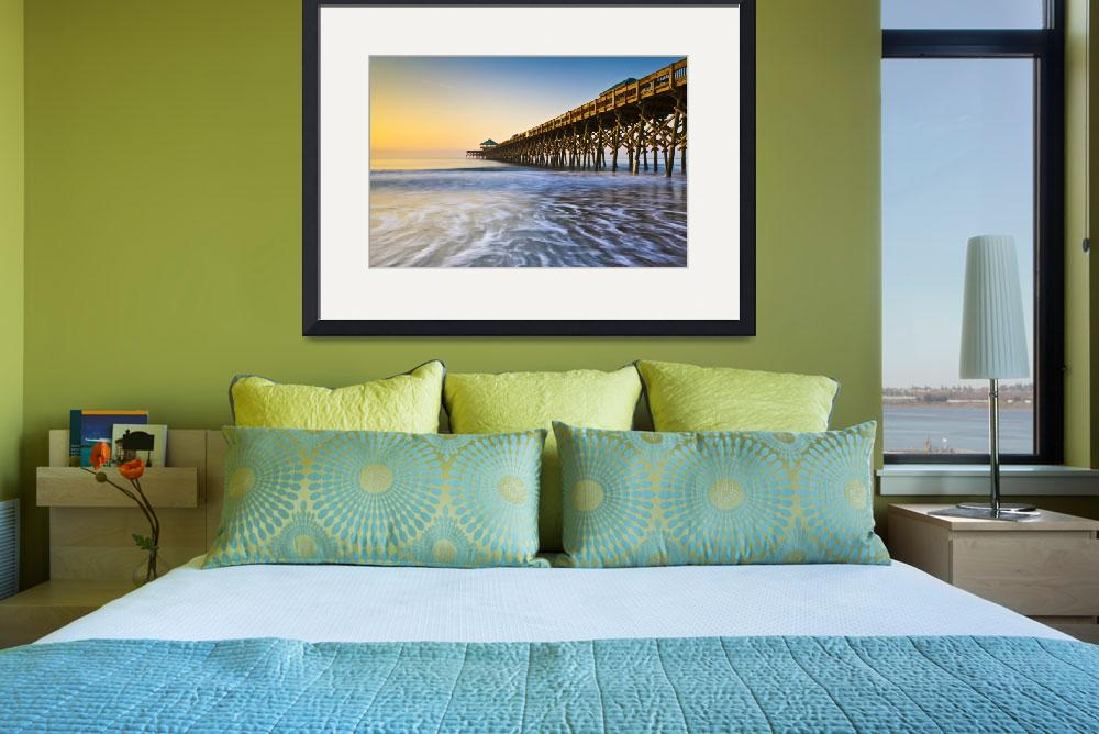 """Folly Beach Pier Charleston SC Coast Atlantic Ocea&quot  (2012) by DAPhoto"