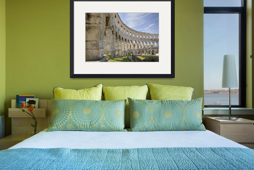 """""""Colosseum in pula&quot  (2010) by IanMiddletonphotography"""