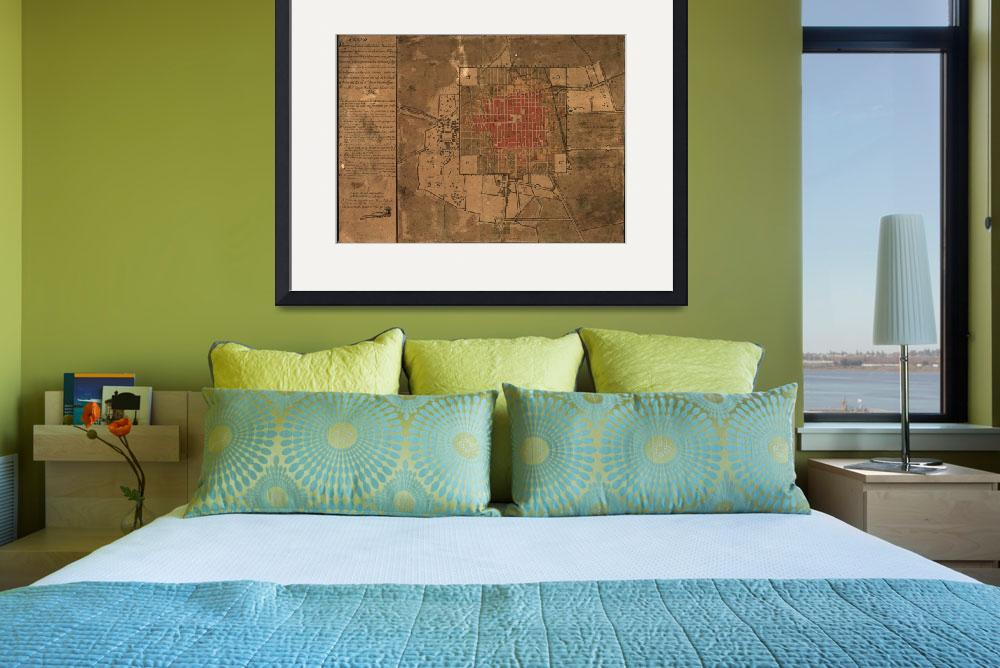 """""""Vintage Map of Mexico City Mexico (1800)&quot  by Alleycatshirts"""