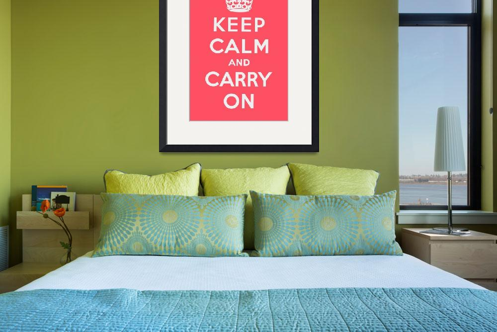 """Pink Keep Calm And Carry On&quot  by oldies"