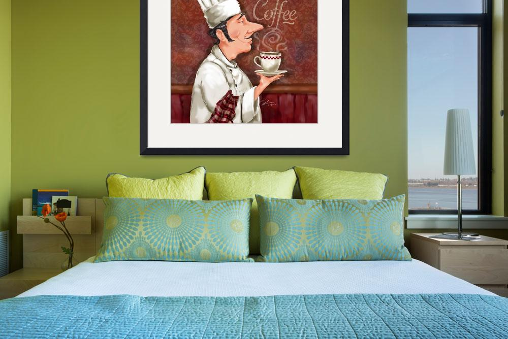 """""""Chef Smell the Coffee&quot  (2011) by shariwarren"""