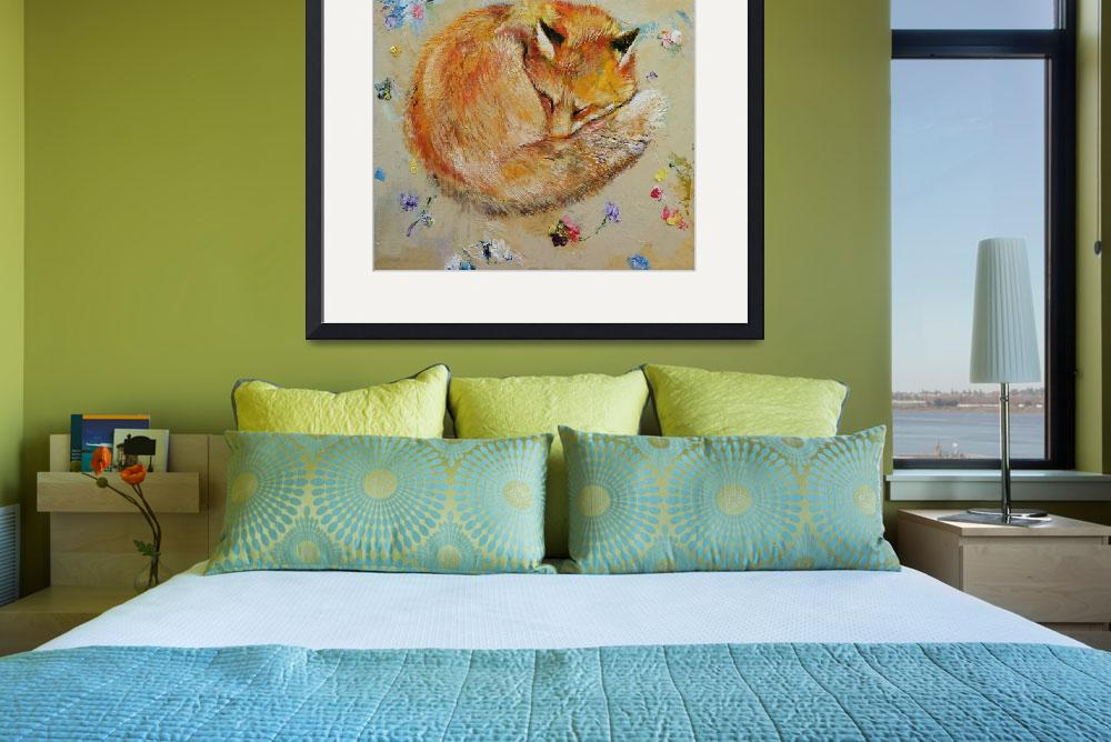 """""""Sleeping Fox&quot  by creese"""