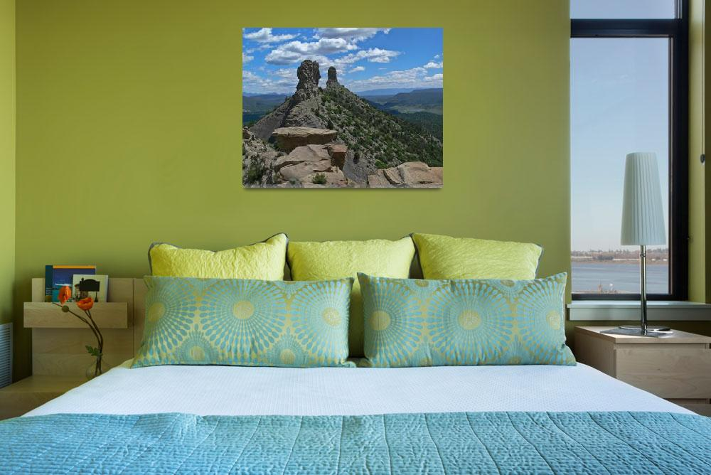 """""""Chimney Rock from the top""""  (2009) by awsheffield"""