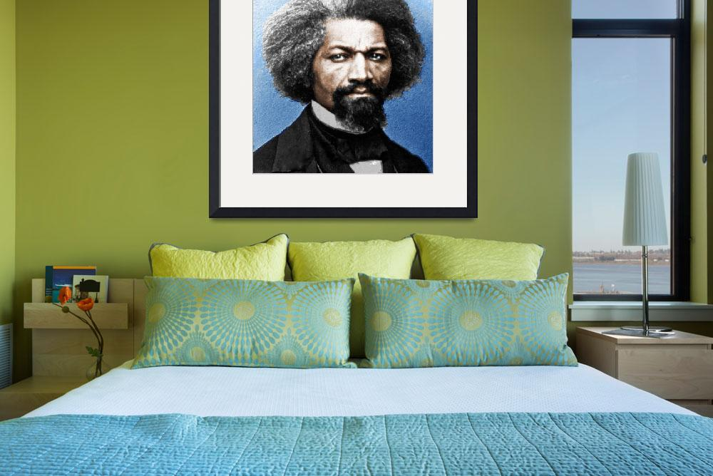 """Frederick Douglass Painting In Color""  (2015) by RubinoFineArt"