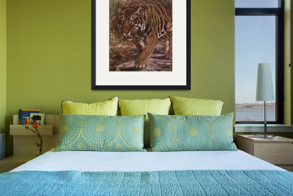 """""""Vintage Tiger Painting (1909)&quot  by Alleycatshirts"""