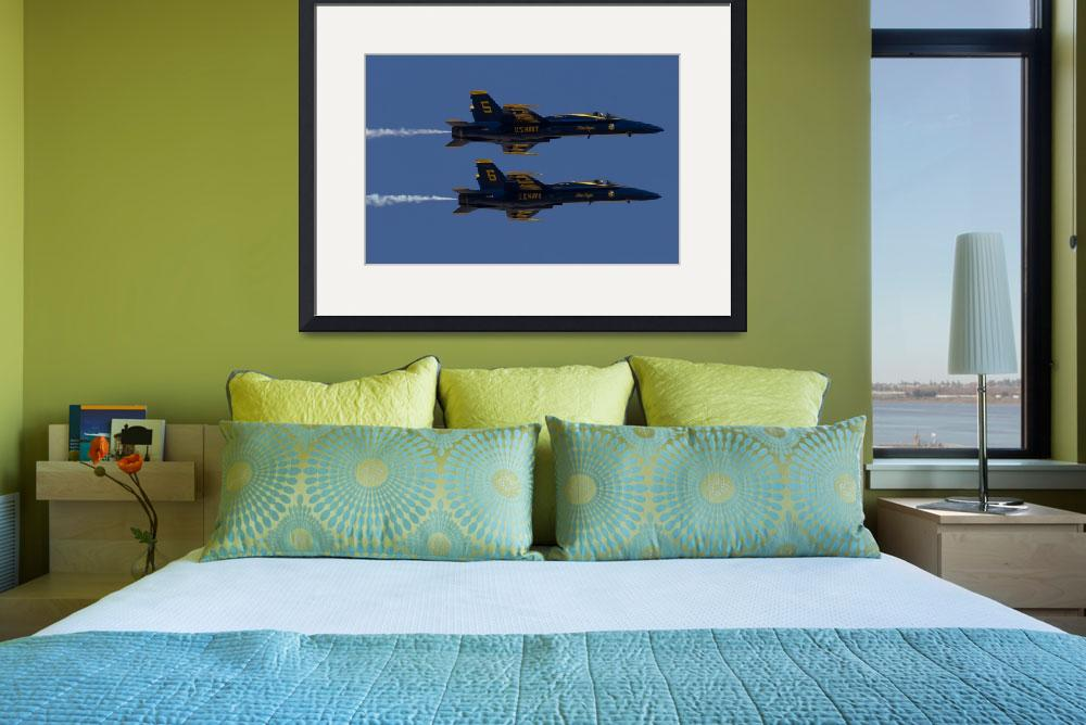 """Blue Angel Solos in Formation""  (2015) by JohnDaly"