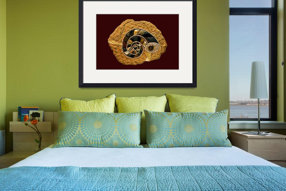 """""""Golden Ammonite Textile&quot  (2008) by SallyJoy"""