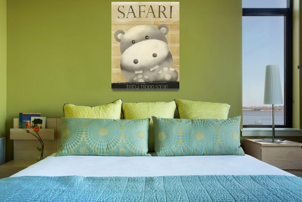 """safari hippo&quot  (2014) by mmaiaart"