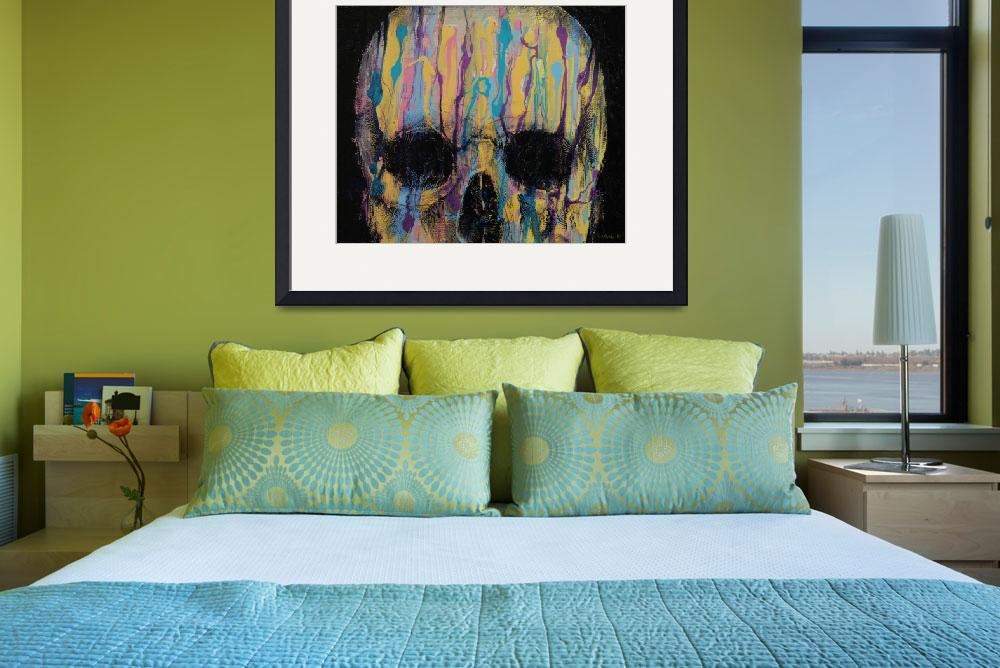 """Psychedelic Skull&quot  by creese"