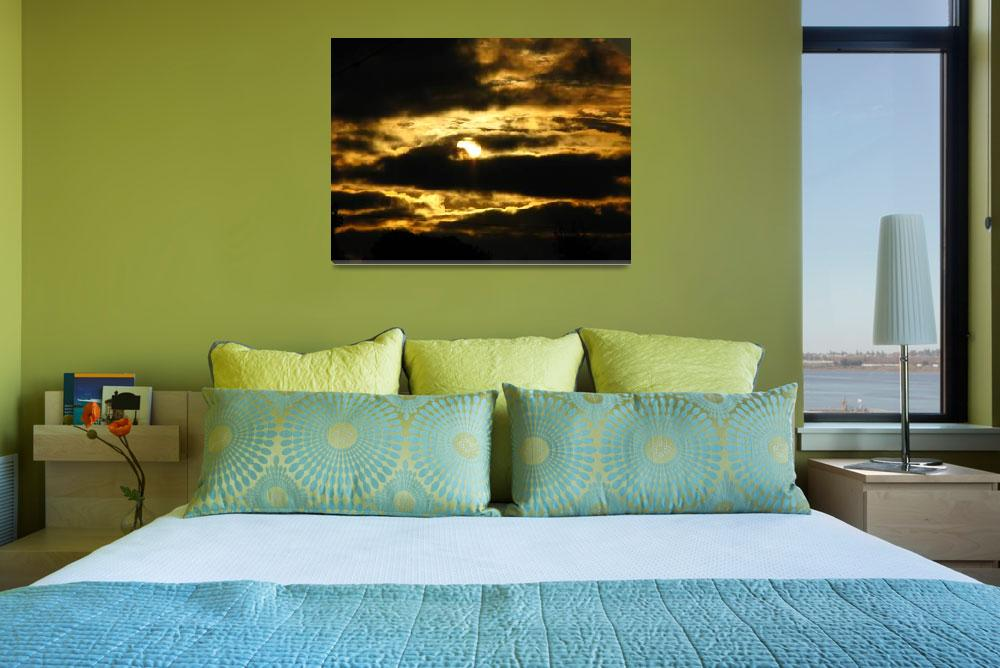 """""""Golden Sunset Clouds 2620""""  (2009) by davies"""
