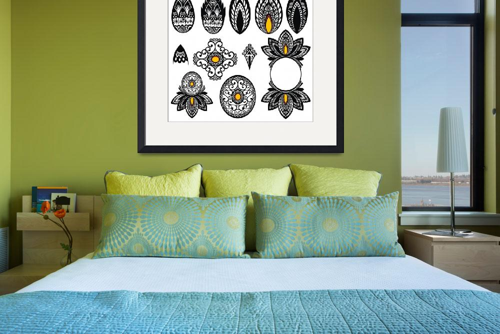 """631 Art Drawing Framed Print&quot  by buddakats1"