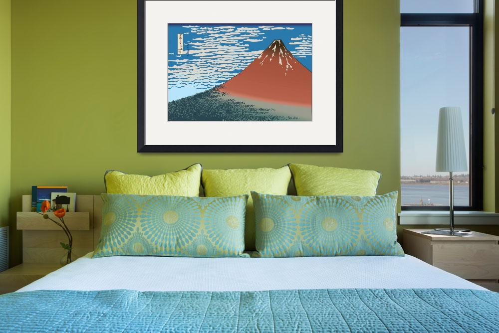 """""""Hokusai Red Mount Fuji&quot  by oldies"""