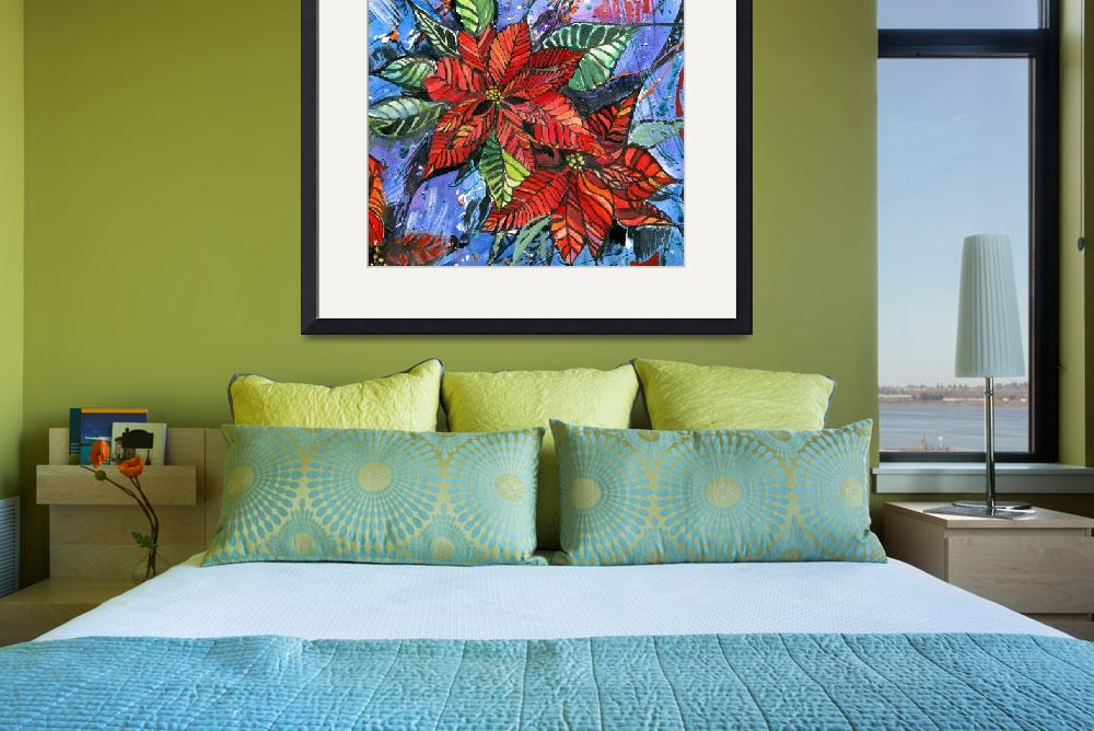 """""""Poinsettia flowers&quot  (2003) by olgart"""