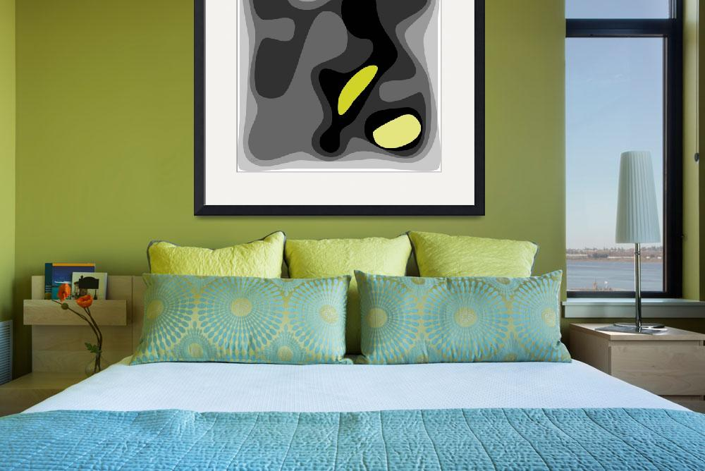 """""""Abstract birth 1 yellow2 ©&quot  (2012) by MontariolArtGallery"""