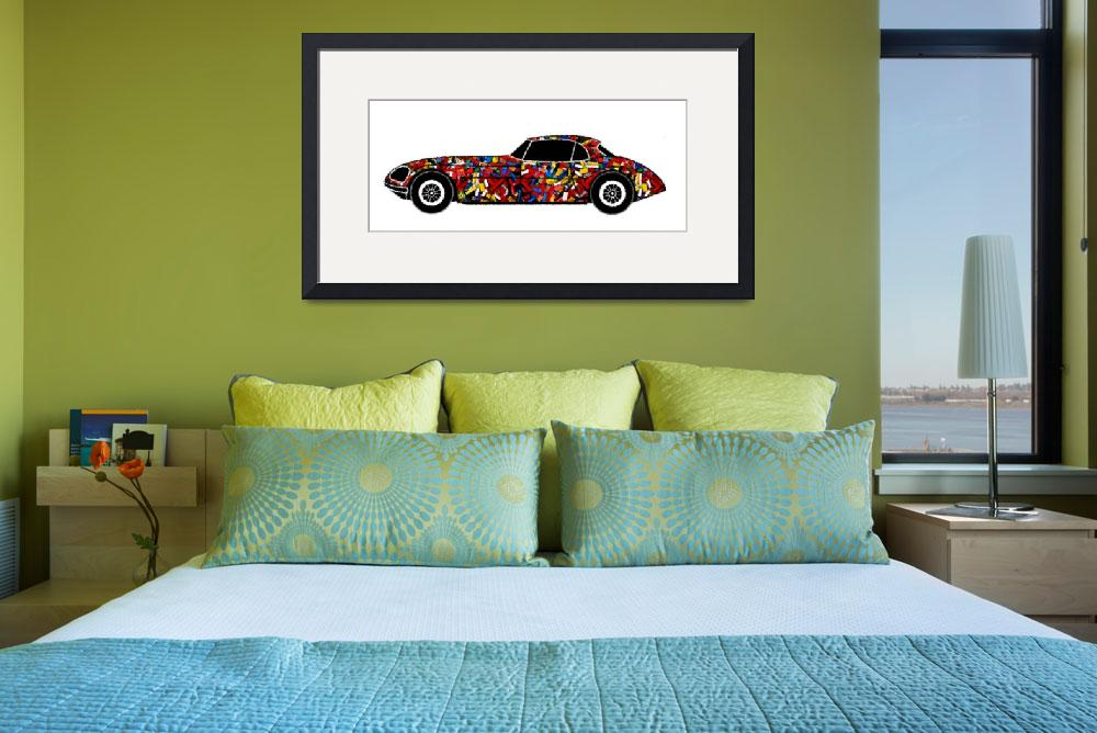"""LONVIG RETRO Car with Bricks a renewed design of C&quot  by Lonvig"