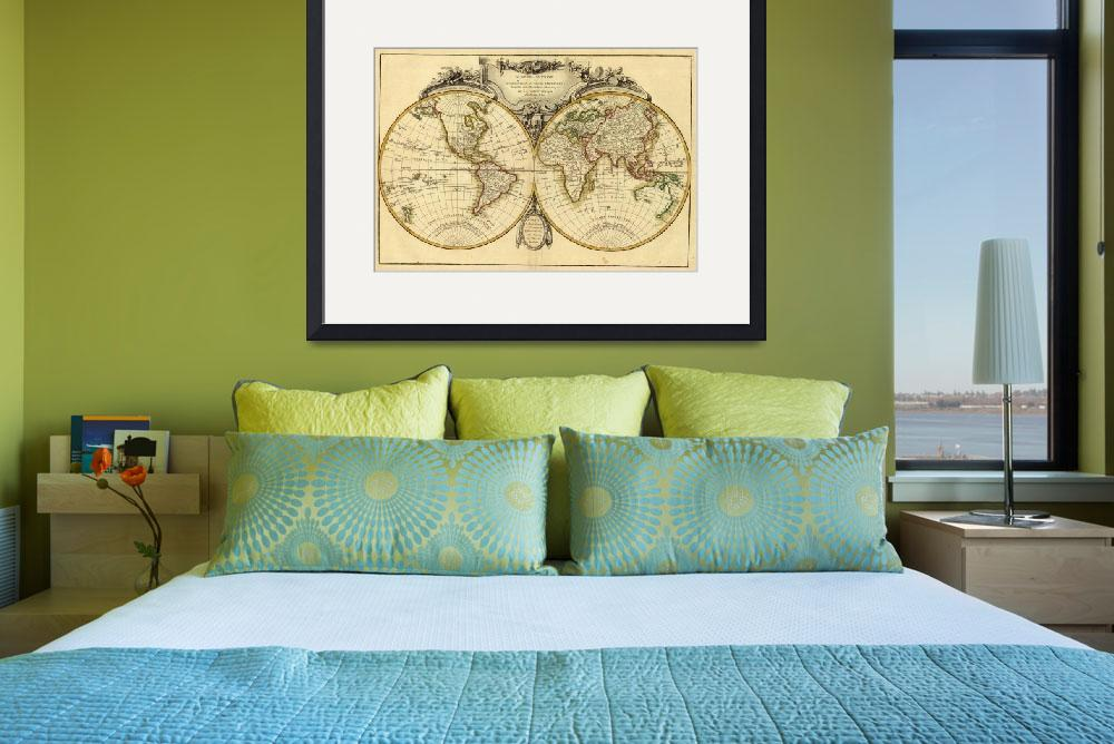"""""""Old Fashioned World Map (1782)""""  by Alleycatshirts"""